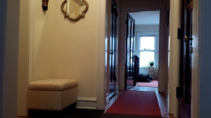 For example, this hallway that separates the kitchen/dining room from the rest of the apartment.