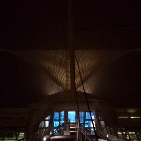 Night 1: Art Museum all lit up