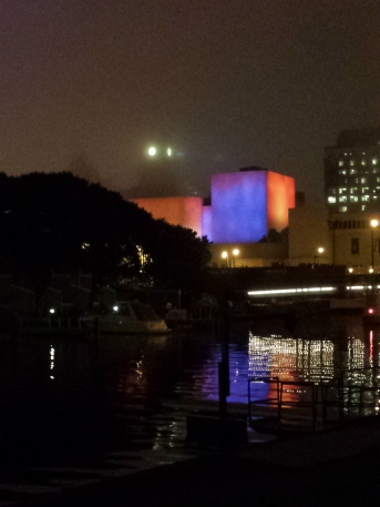 Night 1: Such gorgeous colors! (no clue which building it is)